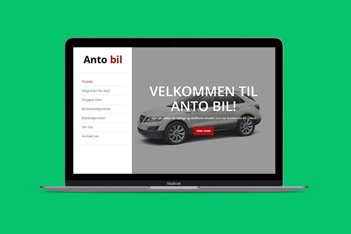 Opprette webside for å selge biler