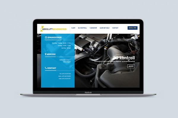 nettside for bilverksted
